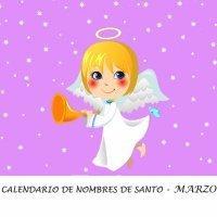 Calendario de los nombres de santos de Marzo