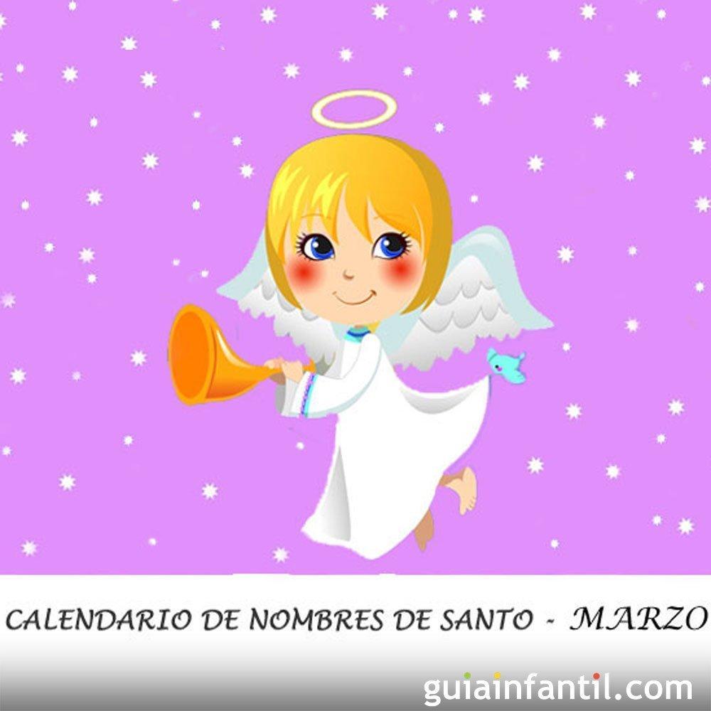 Calendario Con Santos.Calendario De Los Nombres De Santos De Marzo