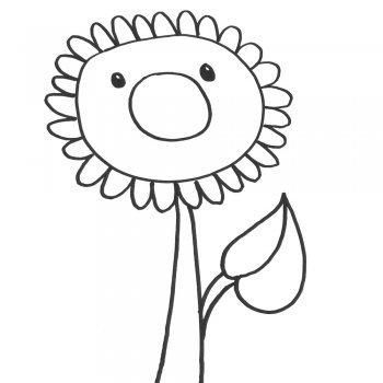 Cómo hacer un dibujo de un girasol