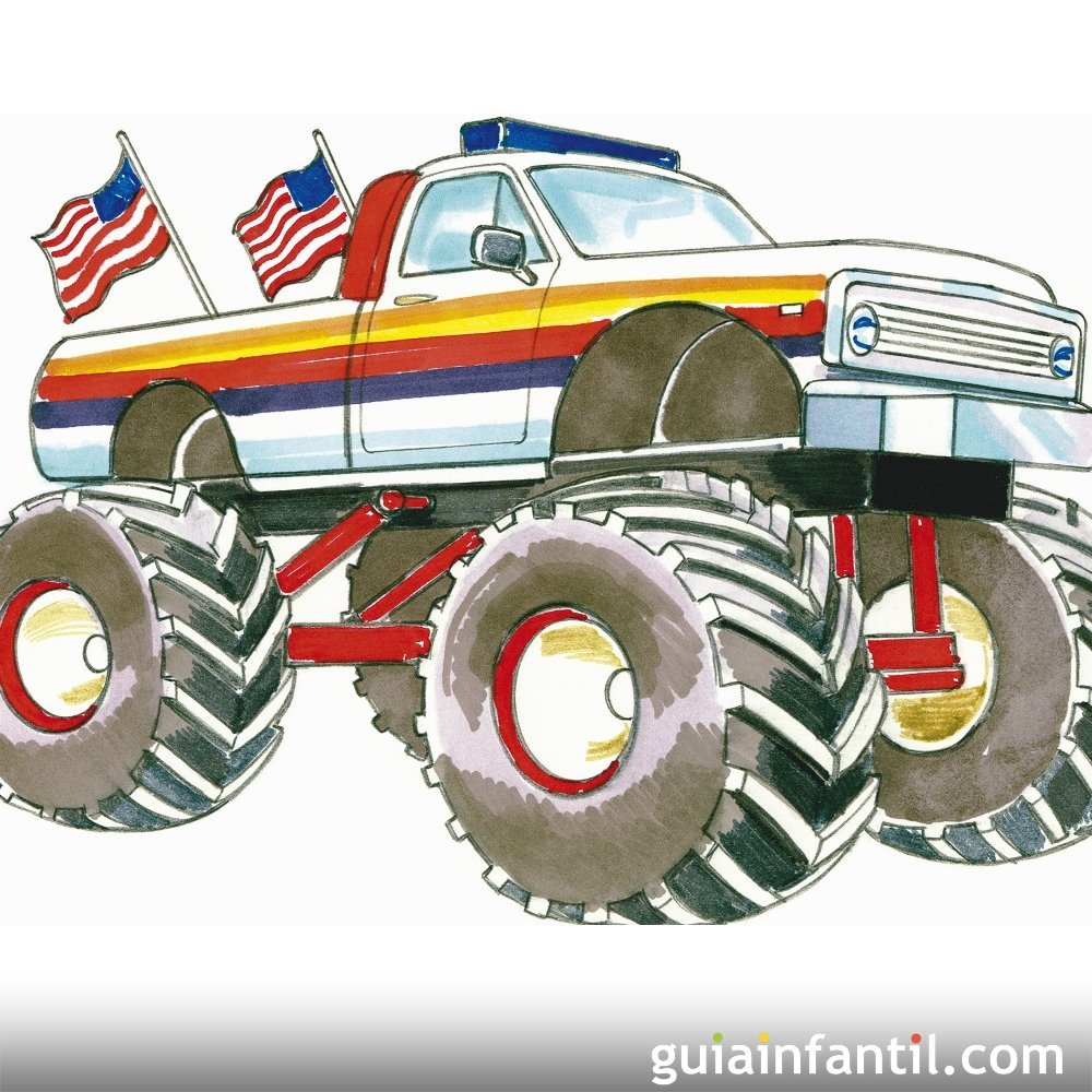 Monster trucks. Canción infantil en inglés