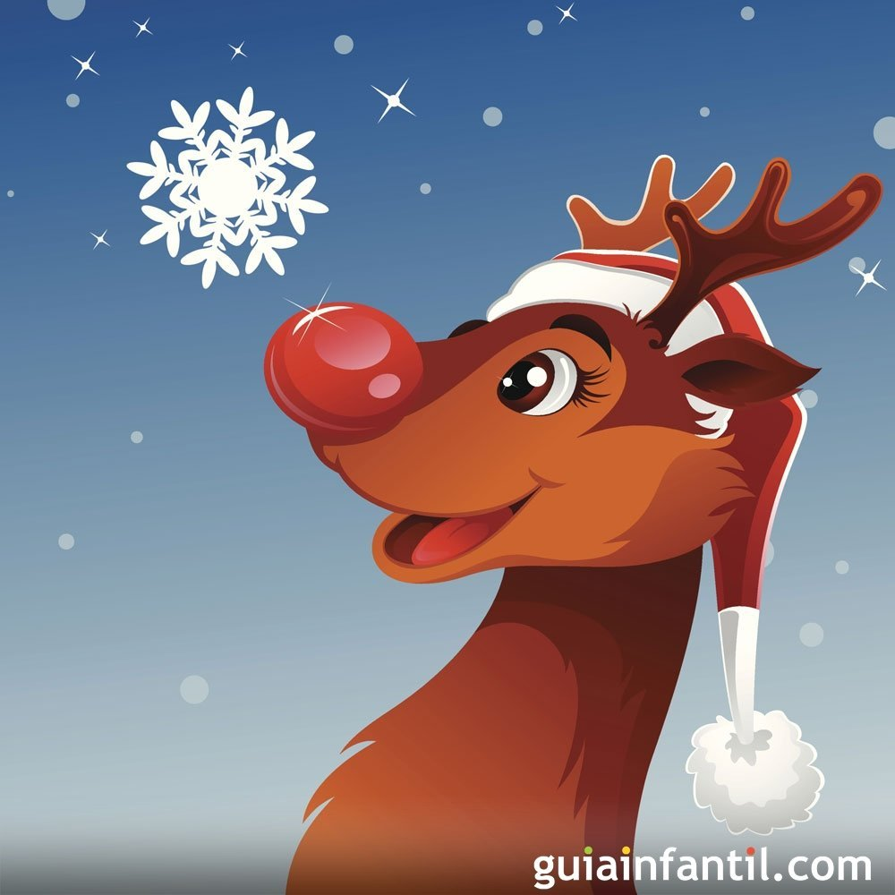 Rudolph, the red nosed reindeer. Villancicos en inglés para niños