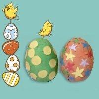Manualidades para niños. Huevo de Pascua de plastilina