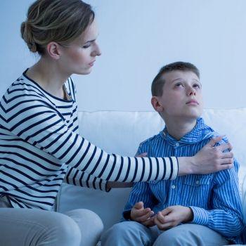 La familia de un niño autista