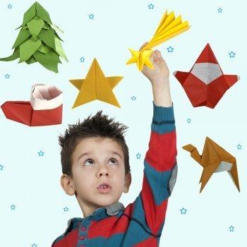 Figuras navideñas de origami en vídeo