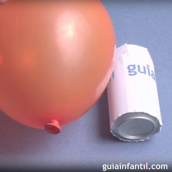 Como Hacer Rodar Una Lata Con Un Globo Experimento Para Ninos - Experimentos-para-nios-con-globos