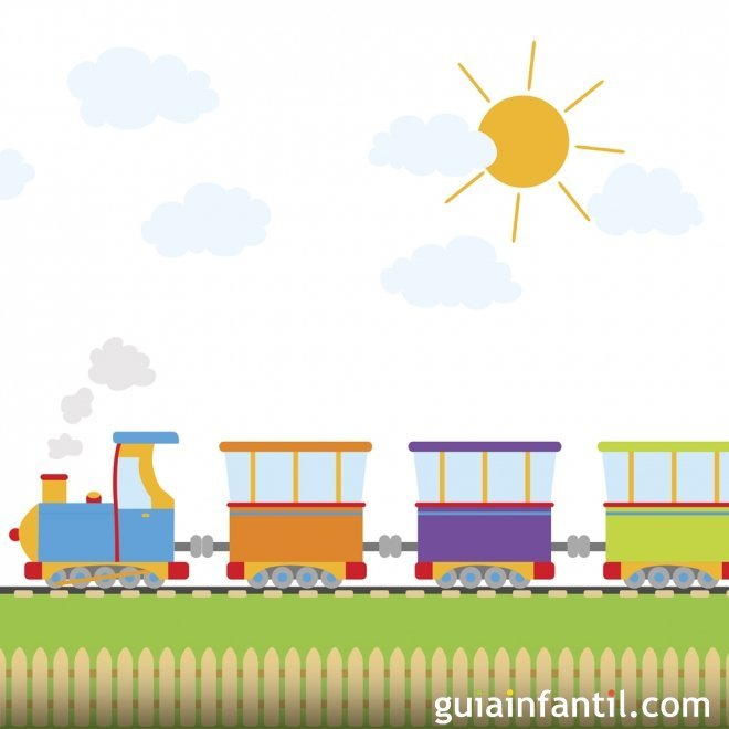 Cuentos cortos para niños. Allí viene el tren