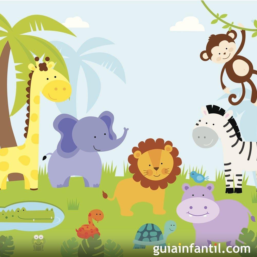 La función en la selva. Poema con rima para niños