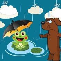El buen tiempo y la lluvia. Fábulas nuevas para niños