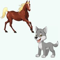 El lobo y el caballo. Fábulas de Fedro para niños
