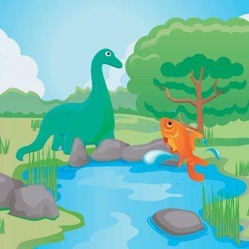 Cuento El dinosaurio y el pez