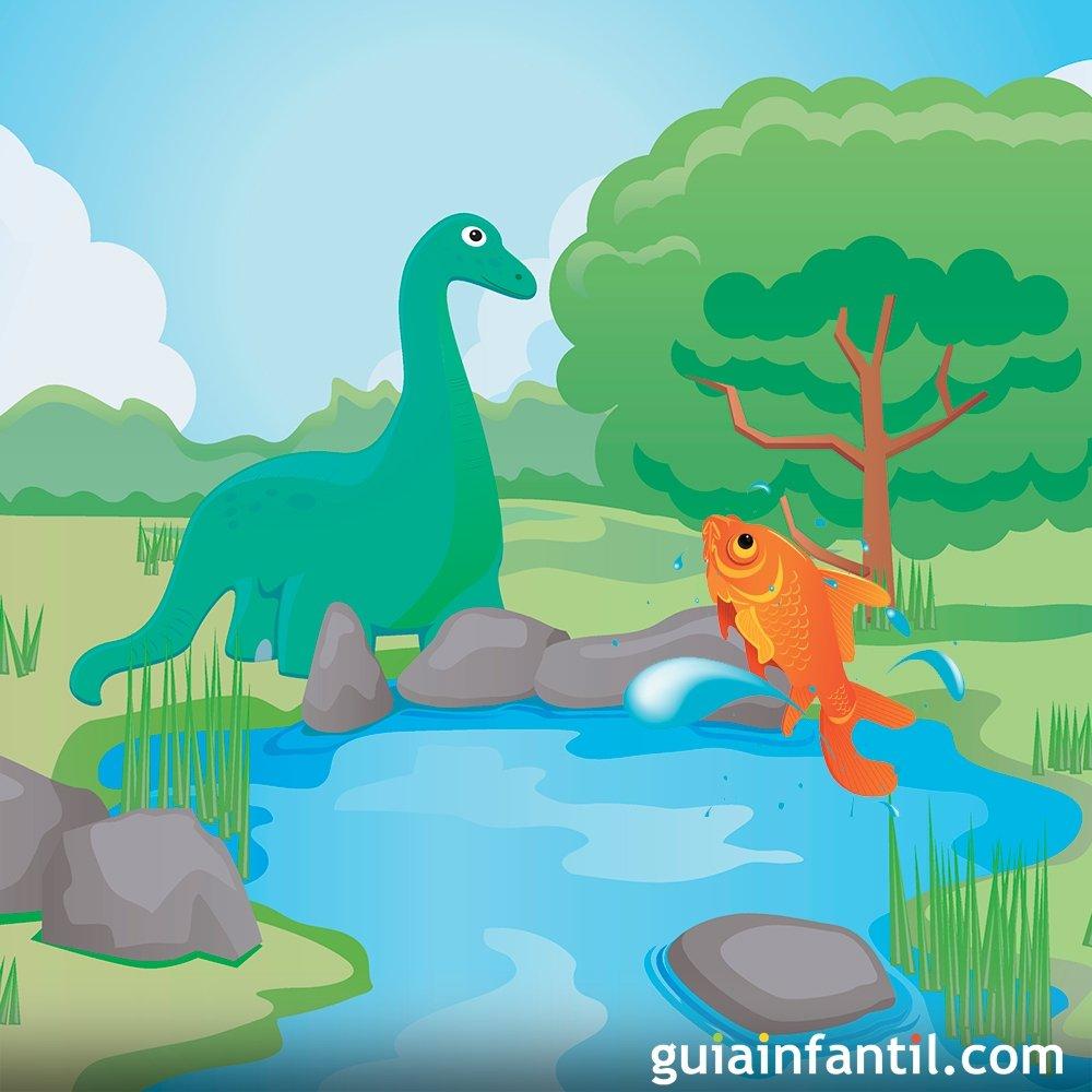 El dinosaurio y el peque o pez cuentos cortos con moraleja for Lonas para estanques de peces