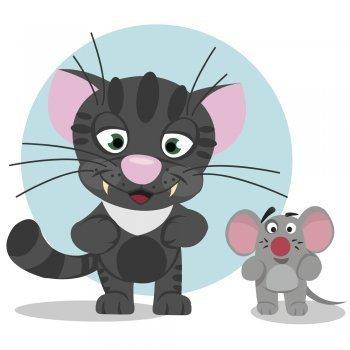 Fábula - El gato y el ratón