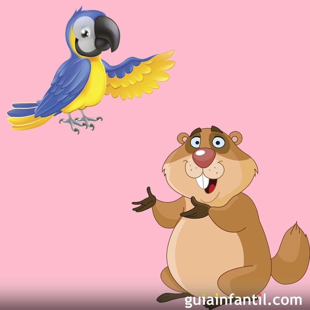 Fábulas con moraleja de Iriarte. El guacamayo y la marmota