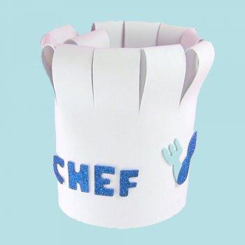 Gorro de cocinero. Manualidades de disfraces caseros