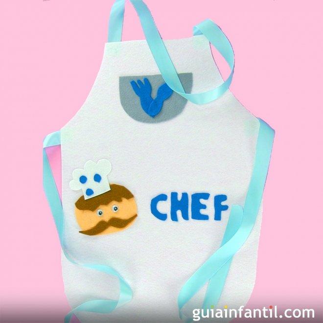 Delantal de cocinero. Manualidades de disfraces caseros