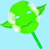 Máscara de Yoda. Manualidades de disfraces infantiles