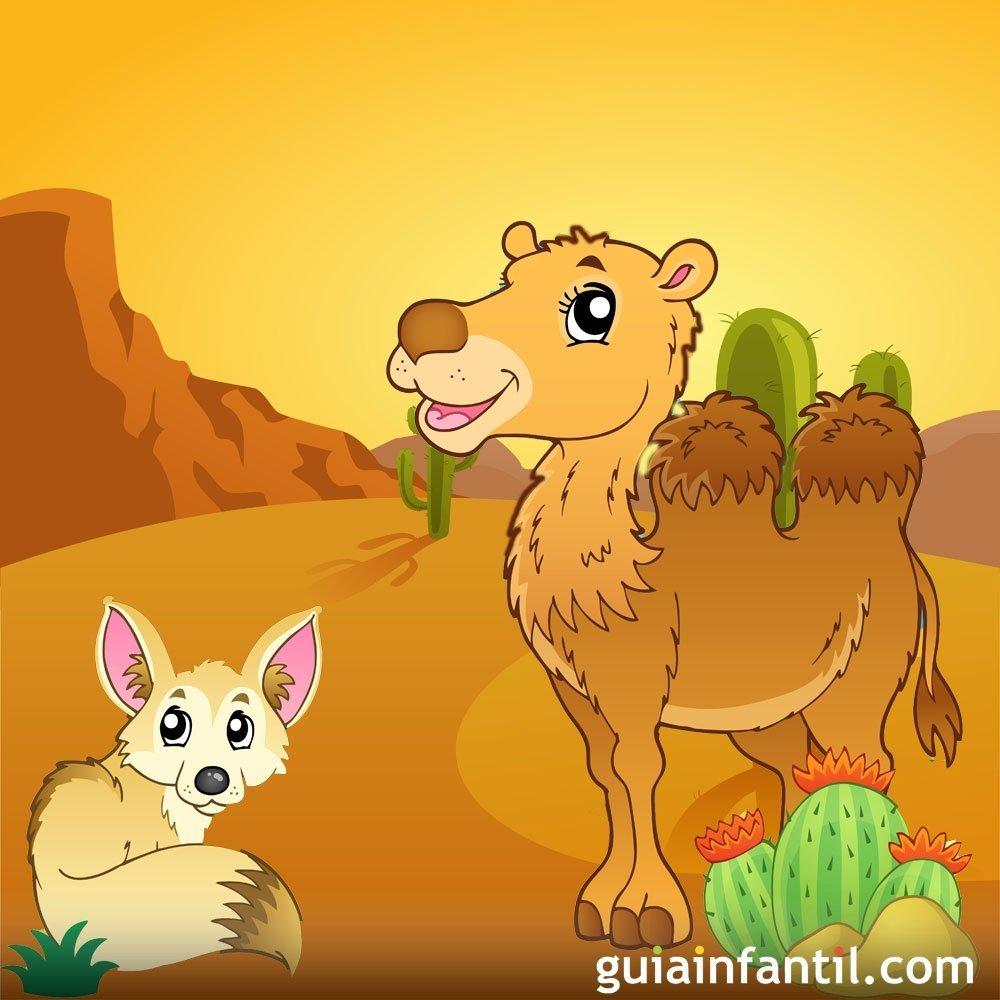 El zorro y el camello. Leyenda africana para niños