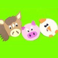 Móvil decorativo de animales. Manualidades fáciles