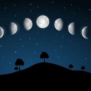 Las caras de la luna. Poesía didáctica para niños