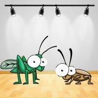 La cucaracha y el grillo. Poema corto para niños