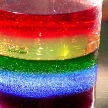 Cómo hacer un arco iris líquido