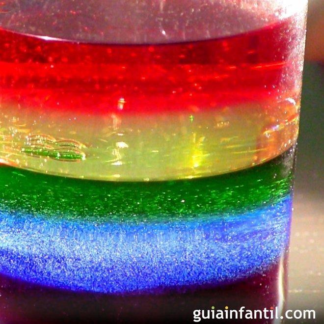 Como Hacer Un Arco Iris Liquido Experimento Infantil