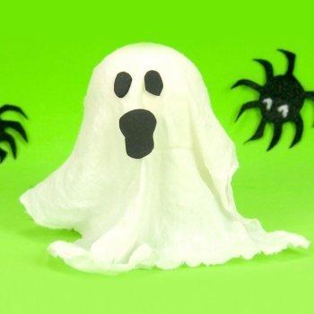 Fantasma linterna de Halloween. Manualidades fáciles