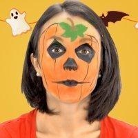 Maquillaje de calabaza para la fiesta de Halloween