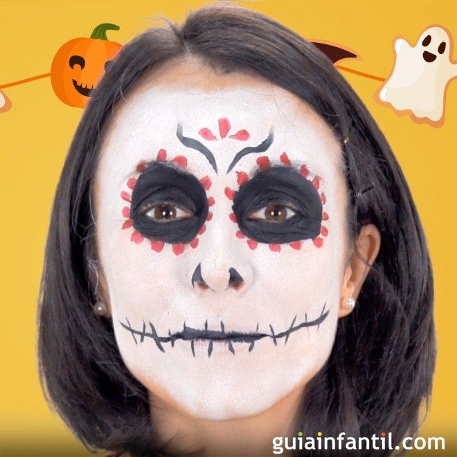 maquillaje de catrina manualidades de halloween - Maquillaje Halloween