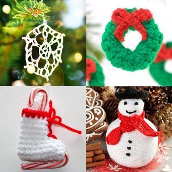 12 ideas de adornos de crochet para el árbol de Navidad