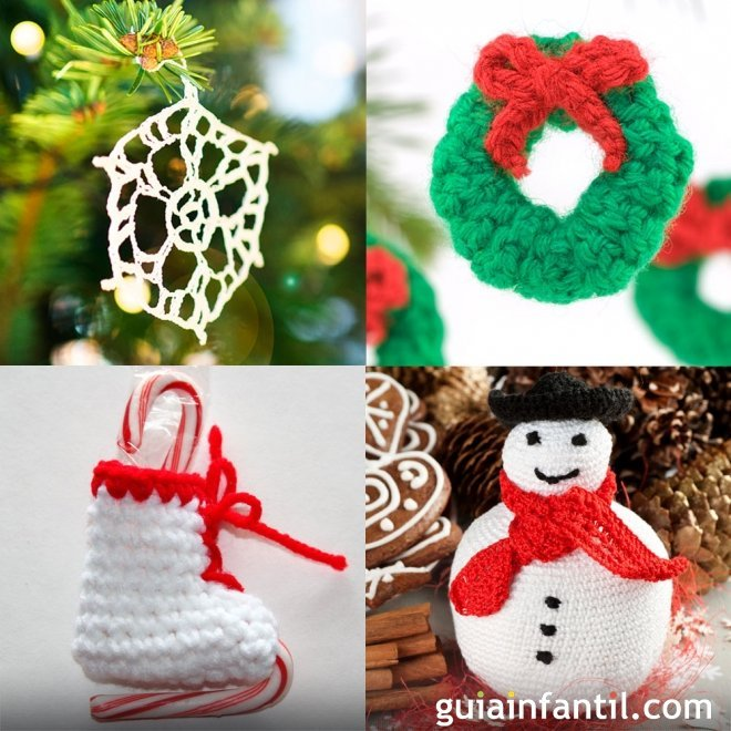 ideas de adornos de crochet para el rbol de navidad