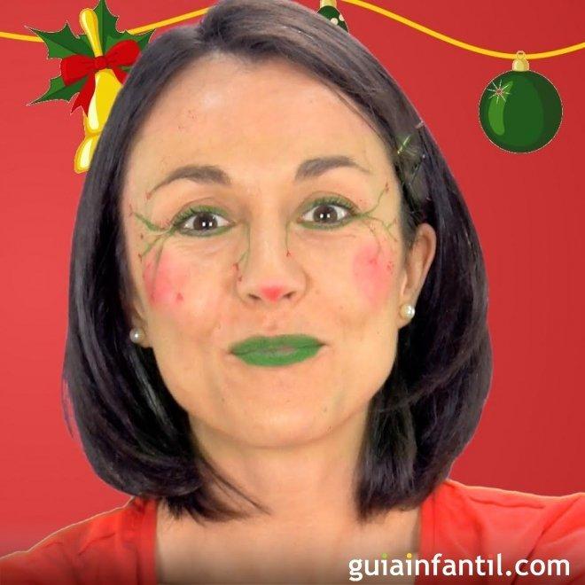 Maquillaje De Elfo Disfraz De Navidad Para Ninos - Como-hacer-disfraces-de-navidad
