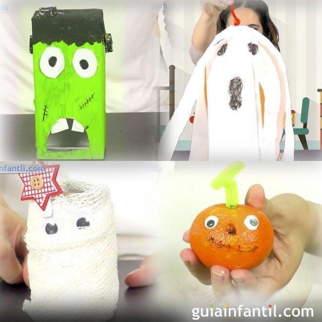 5 manualidades de Halloween para decorar la casa con los nios