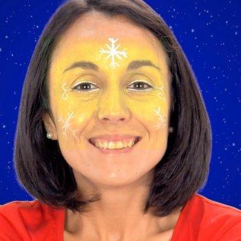 Maquillaje de Hada de Navidad. Disfraz navideño para niñas