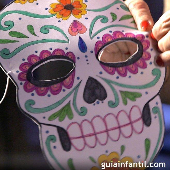 Máscara De Catrina Para Halloween Manualidad Infantil