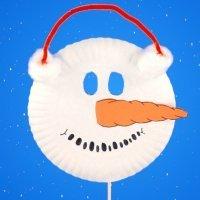 Máscara de muñeco de nieve. Manualidades navideñas