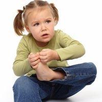 Esguince en el dedo del pie en los niños