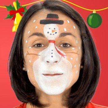 Maquillaje de muñeco de nieve. Disfraces para niños