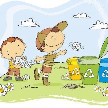 La papelera. Poema sobre el reciclaje