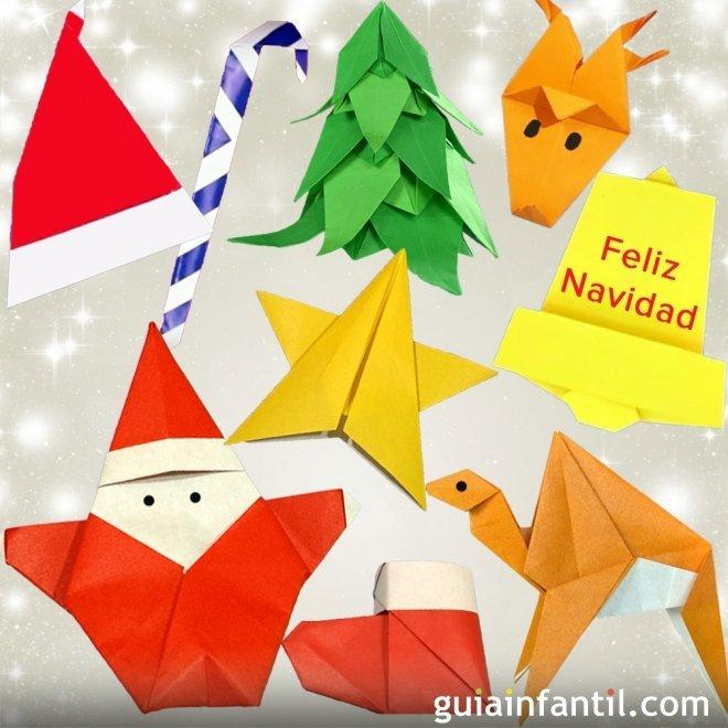 Adornos de Navidad en Origami para niños