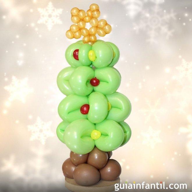 Rbol de navidad con globos globoflexia para ni os - Arbol de navidad para ninos ...