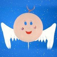 Máscara de Ángel de Navidad. Manualidades de disfraces