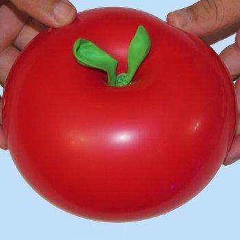 Manzana con globos