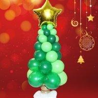Cómo hacer un arbolito de Navidad con globos