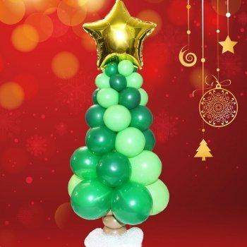 Abeto navideño con globos