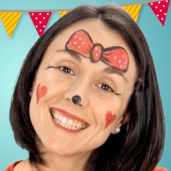 Maquillaje de Minnie Mouse para fiestas infantiles