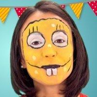 Maquillaje de Bob Esponja para niños