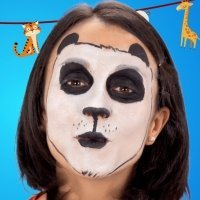 Maquillaje de oso panda para niños