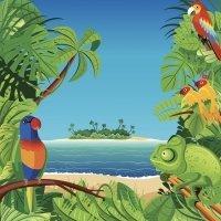 En las playas de Gabón. Poesía didáctica para niños