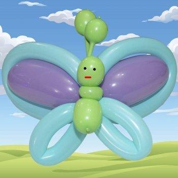 Mariposa con globos